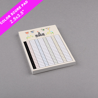 Custom Score Pad Small Size Full Printing