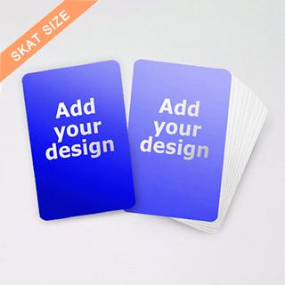 Custom 2.32x 3.58 Skat card
