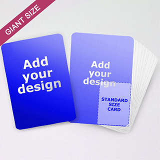 Giant size cards