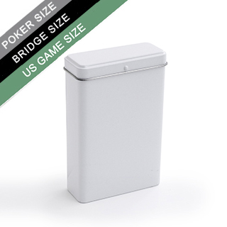 Plain Hinged Tin Box For Poker/Bridge/Us Game Sized Cards