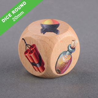 Custom Round Corner Wooden Dice 20mm