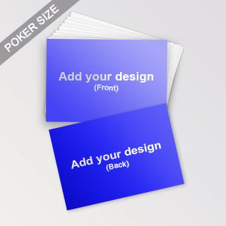 Custom Landscape Poker Size Cards (Straight Edge)